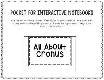 Cronus - Greek Mythology Biography Research Project - Interactive Notebook