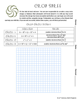 Crop Circles -- Unit Circle, Radian and Degree - 21st Century Math Project