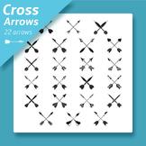 Cross Arrows Clip arts Collection