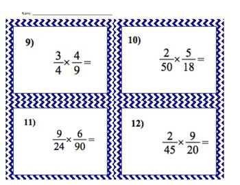 Cross Cancelling Fractions Scoot