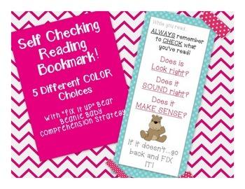 Cross Checking Reminder Bookmark