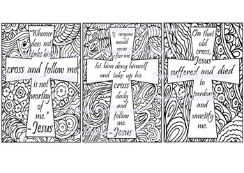 Bible Verse Cross Coloring Pages