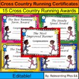 Cross Country Running Certificates! 15 Cross Country Runni