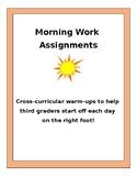 Cross Curricular Morning Work