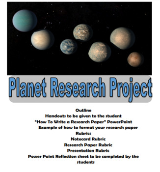 Cross Curricular Planets Research Project