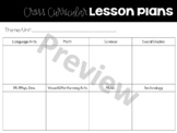 Cross Curricular Planning (Editable)