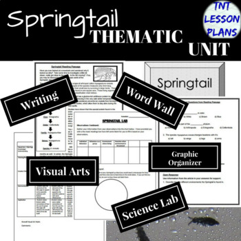 Cross-Curricular Springtail Thematic Unit