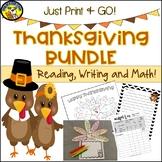 Cross Curricular Thanksgiving Activities