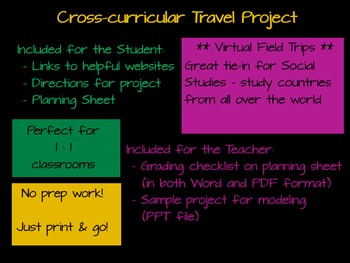 Cross-Curricular Travel Project