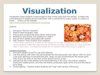 Cross-Curricular Visualization Lessons for the Elementary Classroom