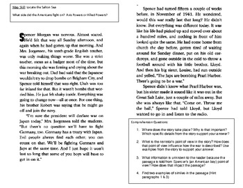 Cross Curriculum CCGPS aligned WWII Reading Passages