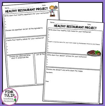 Cross Curriculum Health Project- Open a Healthy Restaurant