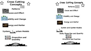 Cross Cutting Concepts Bookmark