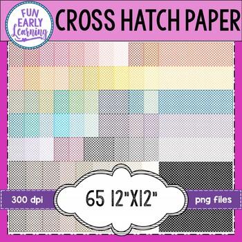 Cross Hatch Pattern Digital Paper Background Set - 65 Colors!
