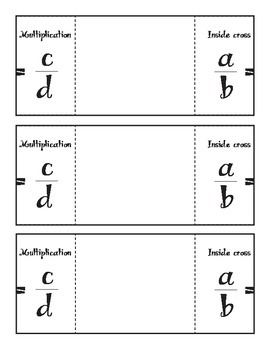 Cross Multiplication Foldable