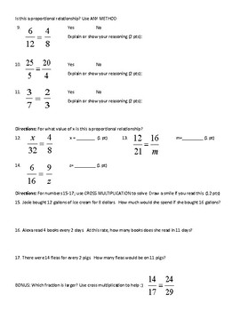 Cross Multiplication Notes and Quiz