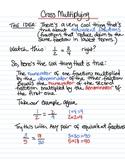Cross Multiplying - instructional sheet