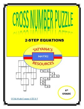 Cross-Number Puzzle - 2-STEP Equations