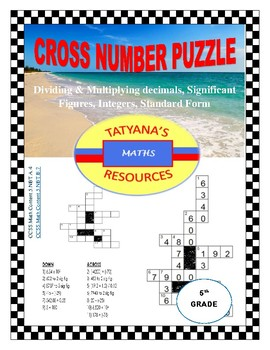 Cross-Number Puzzle - 4 Maths Topics