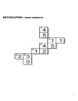 CROSS NUMBER PUZZLE - Binary Operation