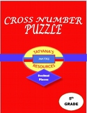 CROSS NUMBER PUZZLE - Decimal Places