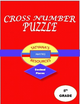 CROSS NUMBER PUZZLE - Decimal Places