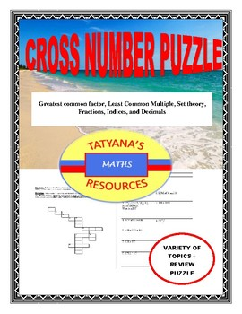 Cross-Number Puzzle - Review Topics