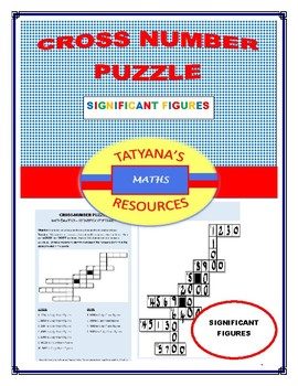 Cross-Number Puzzle - Significant Figures