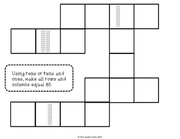 Cross Number Puzzles Tens and Ones