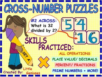 Number Puzzles for Grade 4 and Up~ Engaging Math Activities