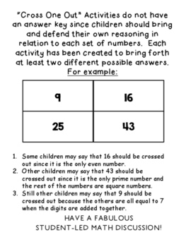 Cross One Out - Math Warm Ups to Get Intermediate Kids Thinking