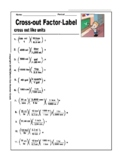 Knock-Out!  Metric System Factor-Label Worksheet