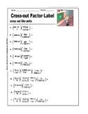 Knock-Out!  Metric System Factor-Label Worksheet
