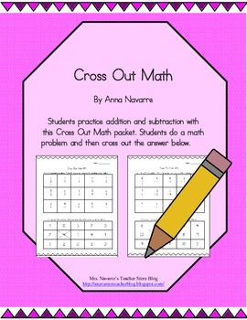 Additon & Subtraction Cross Out Math