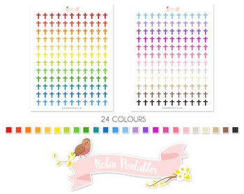 Cross Printable Planner Stickers