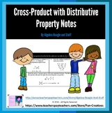 Cross Product with Distributive Property Scaffold Notes