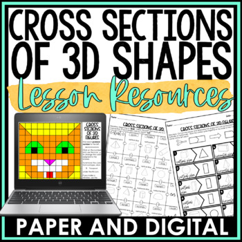 Cross Section of 3D Figures Lesson Bundle