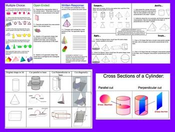 Cross-Sections Bundle 7th Grade Math 7.G.A.3