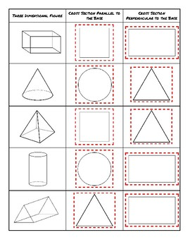 Cross Sections - Matching Activity