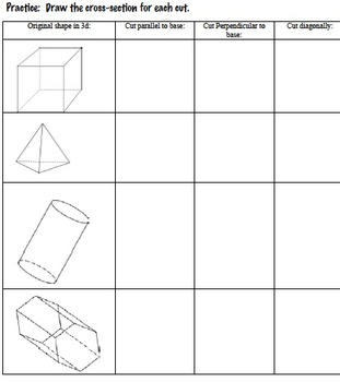 cross sections powerpoint and worksheet 7 g a 3 by math maker tpt. Black Bedroom Furniture Sets. Home Design Ideas