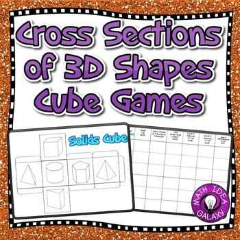 Cross Sections of 3D Figures Game