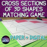 Cross Sections of 3D Figures Game - Matching