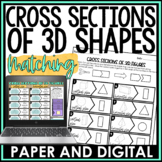 Cross Sections of 3D Figures Activity Matching Distance Learning Digital Print