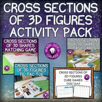 Cross Sections of 3D Figures Activity Bundle 7.G.A.3