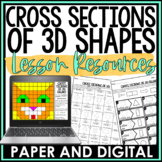 Cross Sections of 3D Figures Bundle Distance Learning Digital and Print