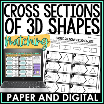 Cross Sections of 3D Figures Matching Activity