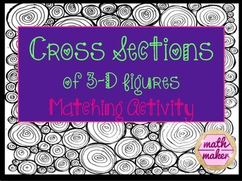 Cross Sections of Geometric Figures Matching Activity 7.GA.3