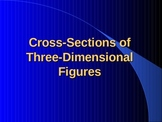 Cross Sections of three dimensional figures