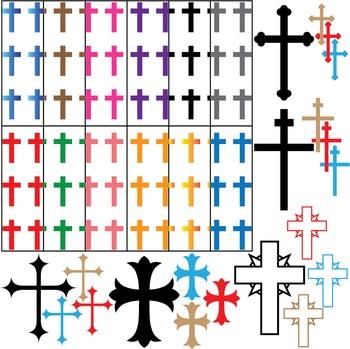 Cross Set Clipart - Digital Clip Art Graphics 32 images cod4