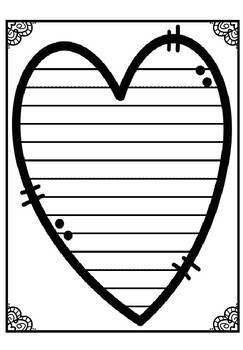 Cross Stitch Heart Writing Template